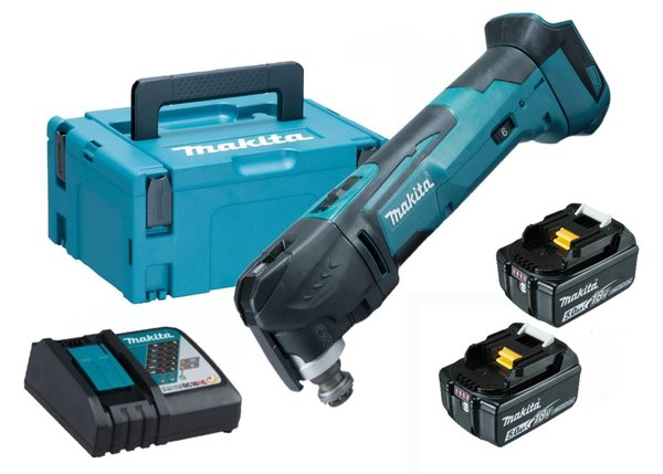 Makita DTM51ZJ 18V Multitool set (2x 5Ah)