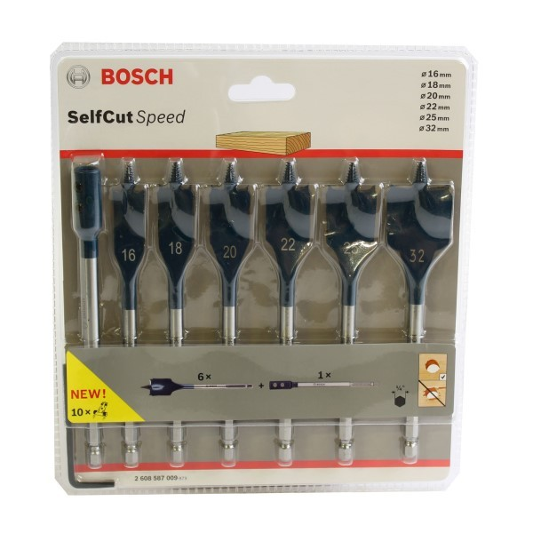 Bosch Speedborenset Self Cut Speed - 16-32mm - 7 delig