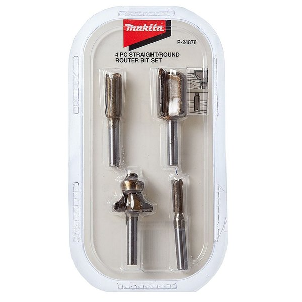 Makita P-24876 4-delige frees set - 6mm