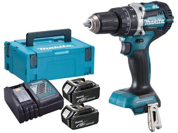 Makita DHP484RTJ 18v Brushless Klopboor- schroefmachine set (2x5.0Ah)