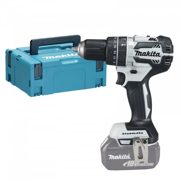 Makita DHP484ZJW 18v Brushless Klopboor- schroefmachine (body in Mbox) - Jubileum Editie